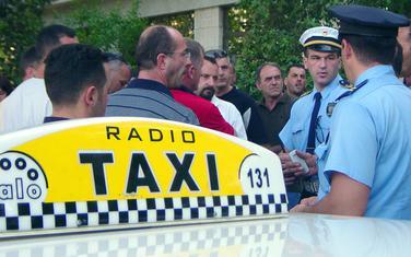 Sa jednog od ranijih protesta taksista (ilustracija)