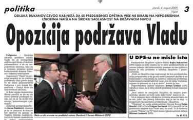 Vijesti, 4. avgust 2009.