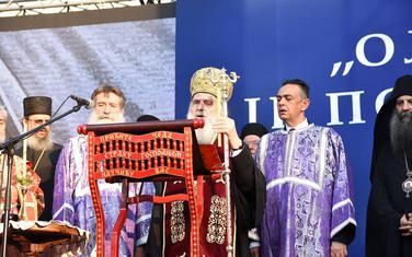 Patrijarh Irinej u Krušedolu