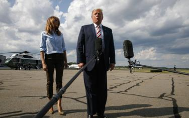 Donald Tramp i njegova supruga Melanija