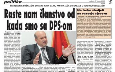 Vijesti, 9. avgust 2009.