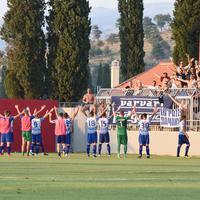Fudbaleri Budućnosti proslavljaju pobjedu na DG areni