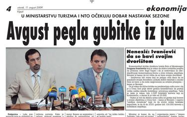 Vijesti, 11. avgust 2009.