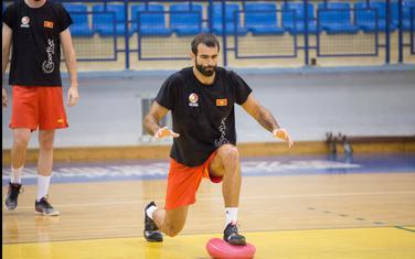 Aleksandar Minić na treningu u Pljevljima