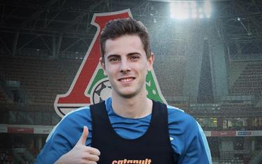 Luka Đorđević na predstavljanju u Lokomotivi