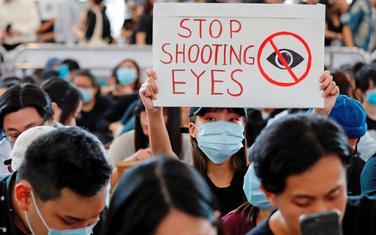 Sa jučerašnjeg protesta na aerodromu u Hong kongu
