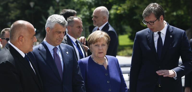 Tači, Merkelova i Vučić