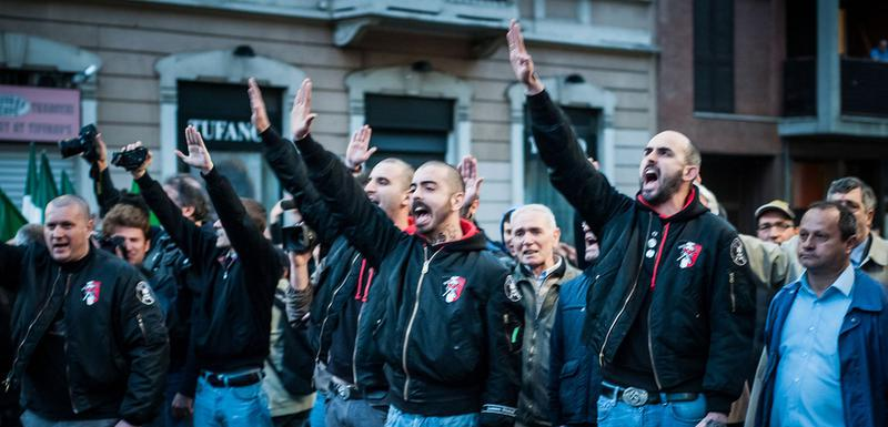 Pripadnici italijanske ekstremne desnice u Milanu: Ilustracija