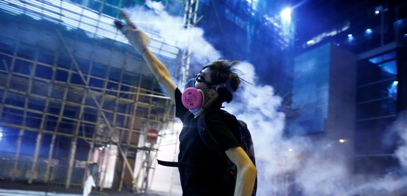 Detalj sa protesta u Hongkongu