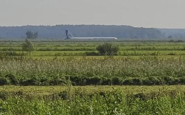 Avion nakon prinudnog slijetanja
