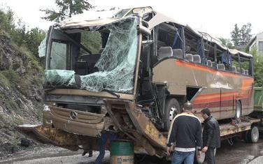 """Autobus preduzeća """"Glušica prevoz"""" nakon udesa"""