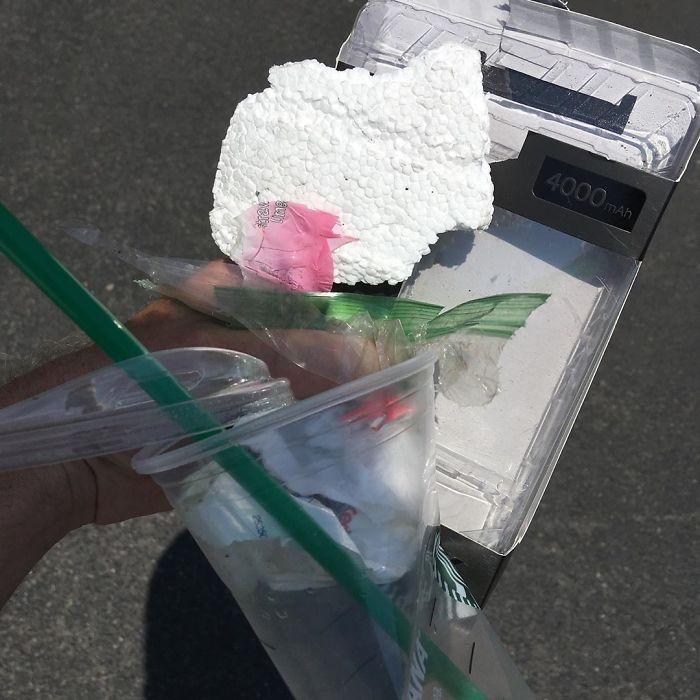 Dio smeća koje Piter sakupi (foto: Peterpicksuptrash/Instagram)