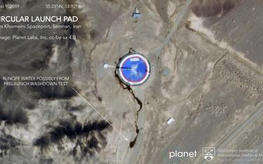 Satelitski snimak iranskog svemirskog centra