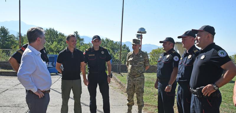 Sa obilaska karaule Krenza na granici sa Albanijom