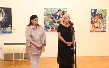 Petrović i Miranović na otvaranju izložbe