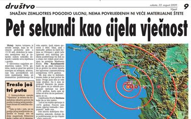 Vijesti, 22. avgust 2009.