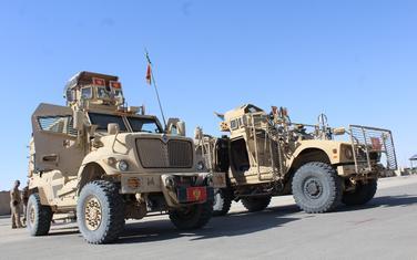 """Pripadnici VCG-a koriste """"Oshkosh"""" vozila u Avganistanu"""