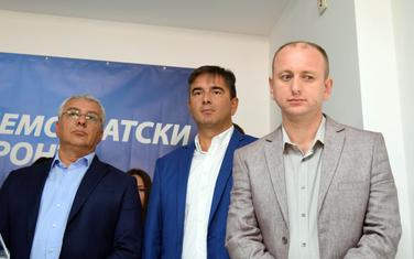 Andrija Mandić, Nebojša Medojević i Milan Knežević