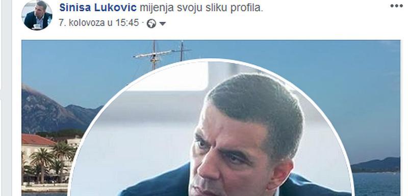 Sporna profilna slika na Lukovićevom nalogu na Fejsbuku