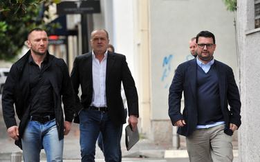 Bajčeta (lijevo), sa Jovicom Lončarem i Duškom Šarićem