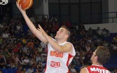Bojan Bakić u dresu reprezentacije Crne Gore