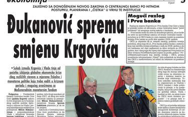 Vijesti, 26. avgust 2009.
