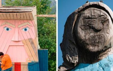 Drvena statua Donalda Trampa je delo Tomaza Šlegla, piše AFP