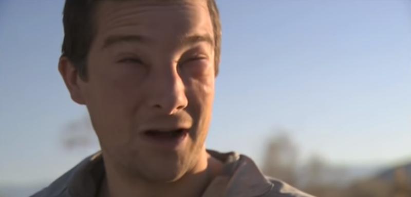 Grils 2008, kada je saznao da je alergičan