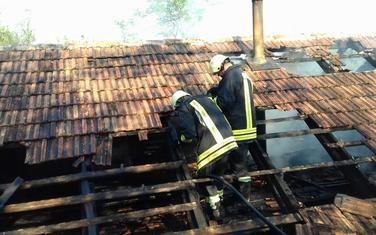 Kuća na kojoj je požar izbio