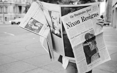 """Vijesti o Niksonovoj ostavci u """"Vašington postu"""" avgusta 1974."""