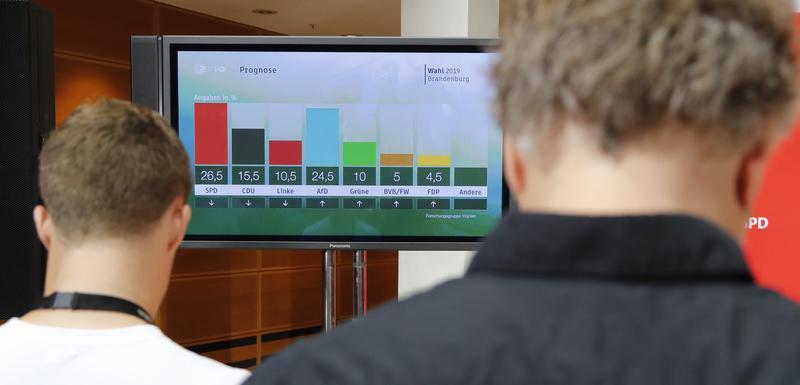 Praćenje rezultata izbora u štabu SPD