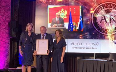 Lazović na uručenju priznanja u Sloveniji