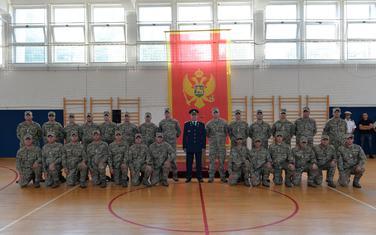 Pripadnici XI kontingenta Vojske Crne Gore