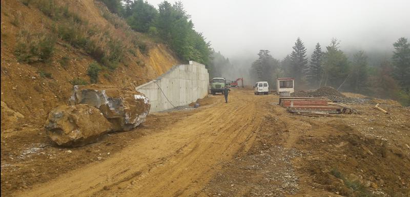 Izgradnja puta prema Žarskom