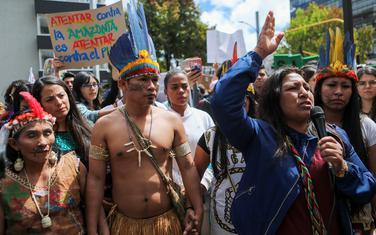 Sa protesta jednog od plemena