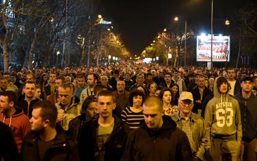 Sa jednog od okupljanja kojem je prisustvovalo više hiljada ljudi