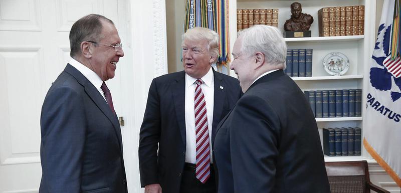 Lavrov, Tramp i Kisljak u Bijeloj kući 10. maja 2017.