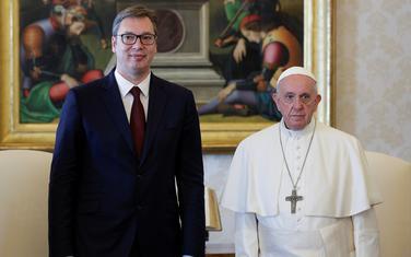 Vučić i papa Franjo
