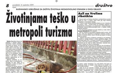 """Stranica """"Vijesti"""" od 14. septembra 2019."""