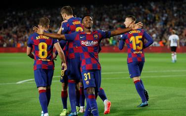 Ansu Fati slavi gol protiv Valensije