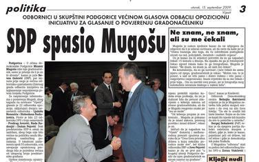 """Stranica """"Vijesti"""" od 15. septembra 2019."""