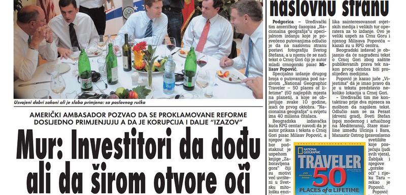 """Stranica """"Vijesti"""" od 17. septembra 2019."""