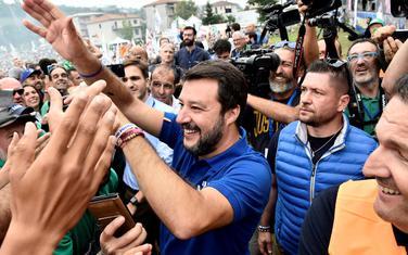 Salvini među pristalicama