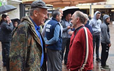 Protestni skup lovaca ispred Ministarstva poljoprivrede prošle godine