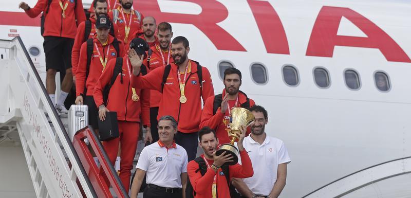 Šampioni po dolasku u Španiju