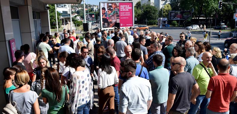 Sa štrajka upozorenja koji je organizovao Sindikat Telekoma