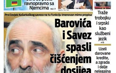 """Naslovna strana """"Vijesti"""" za 18. septembar"""