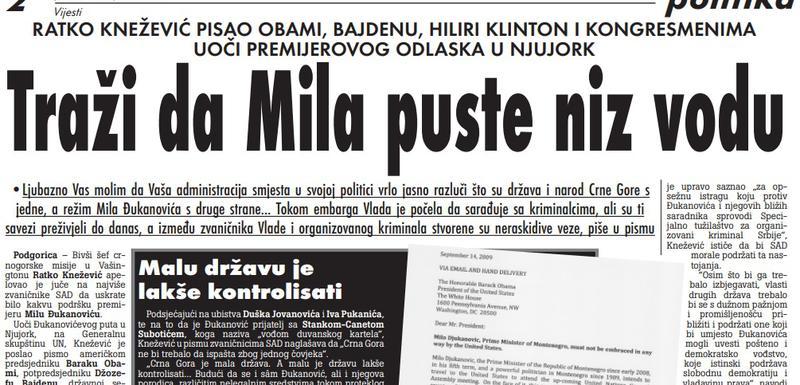 Vijesti, 18. septembar 2009.