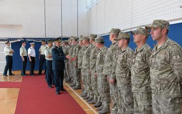 Pripadnici X kontingent Vojske Crne Gore