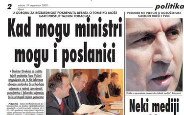 Vijesti, 19. septembar 2009.